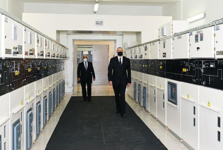 Президент Ильхам Алиев принял участие в открытии 110/35/10-киловаттной подстанции «8-й км» - <span class=