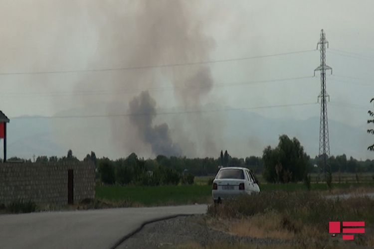 Армяне учинили пожар на оккупированных азербайджанских землях