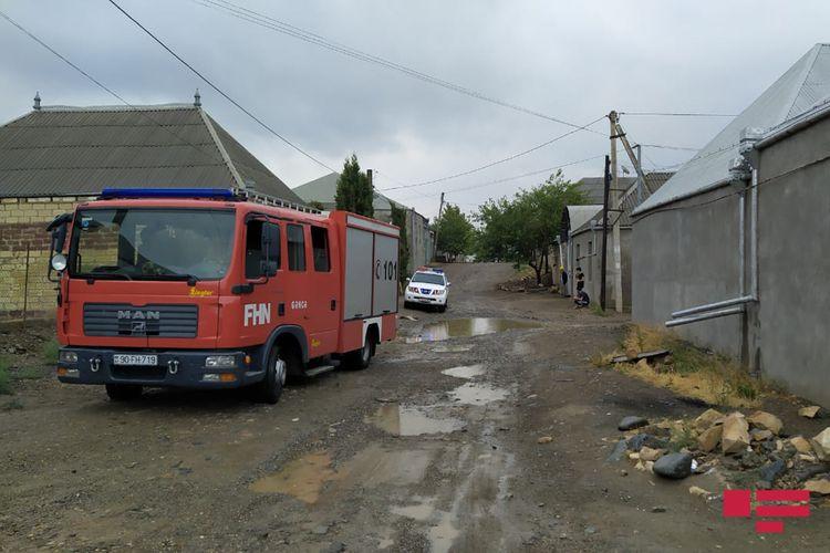 Gəncədə güclü yağış fəsadlar törədib - FOTO