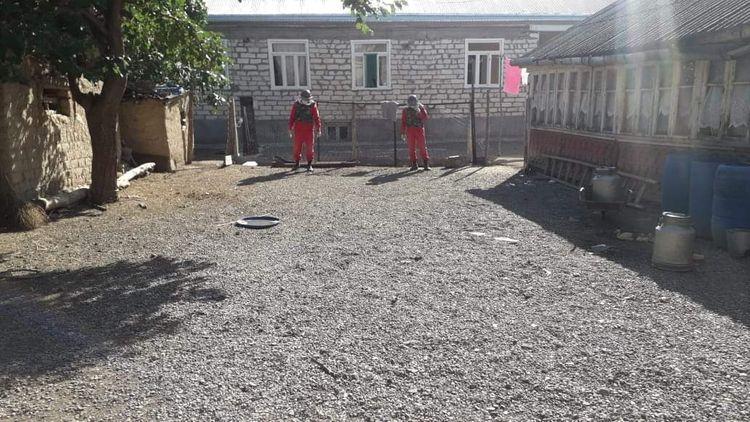Tovuzda bağ sahəsində ermənilərin atdığı top mərmisinin qalıqları tapılıb - <span class='red_color'>FOTO</span>