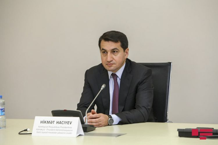 """Hikmat Hajiyev: """"Armenian militants hide behind civilian people, use terrorists' method"""""""