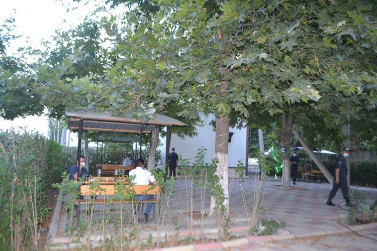 Mingəçevirdə karantin qaydalarına zidd olaraq fəaliyyət göstərən kafe aşkarlanıb - FOTO