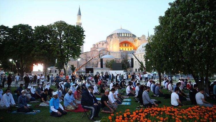 Friday prayer held in Hagia Sophia after 86 years - <span class=