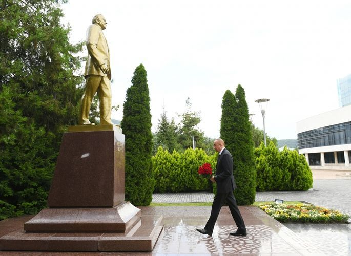 Azerbaijani President visited Gabala district