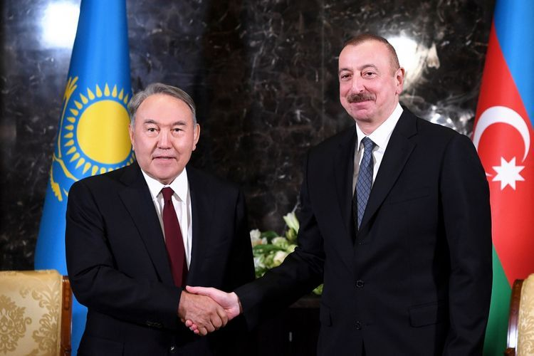 President Ilham Aliyev phoned first President of Kazakhstan Nursultan Nazarbayev