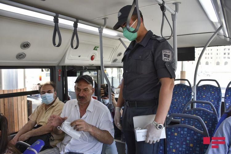 Bakıda polis maska taxmayanlara qarşı reydlərə başlayıb - YENİLƏNİB - FOTOSESSİYA