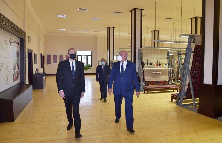 """President Ilham Aliyev attended inauguration of Tartar branch of """"Azerkhalcha"""" OJSC"""