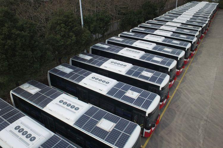 Перспективы развития общественного транспорта с солнечной энергией - <span class=