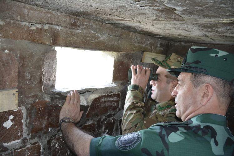 DSX generalı və Hərbi prokurorun müavini Ermənistanla sərhəddə olublar - FOTO