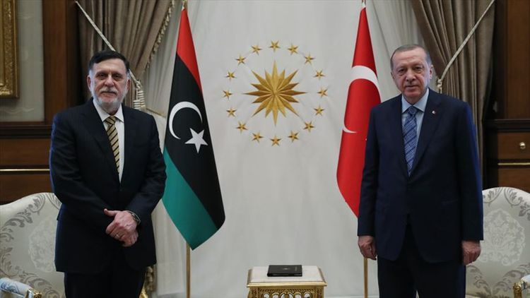 Erdogan meets with Libyan PM