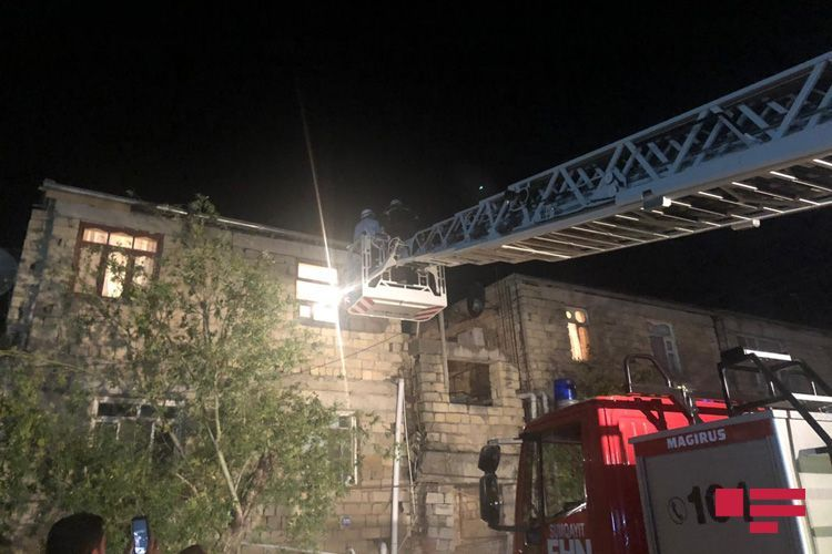 Staircase of residential building collapsed in Sumgayit - <span class=