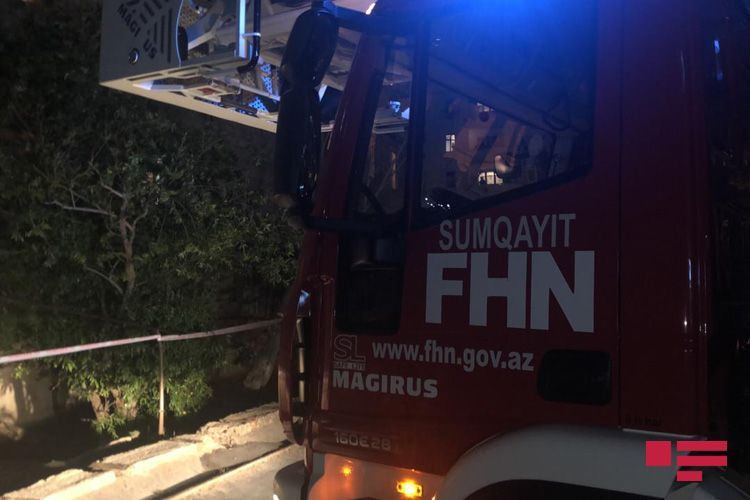Staircase of residential building collapsed in Sumgayit - <span class='red_color'>UPDATED</span>