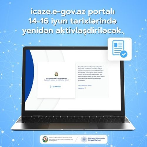 icaze.e-gov.az portal to be activated again during June 14-16