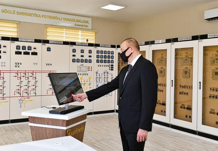 President Ilham Aliyev inaugurated Ahmadli substation owned by AzerEnergy in Khatai district, Baku - <span class=