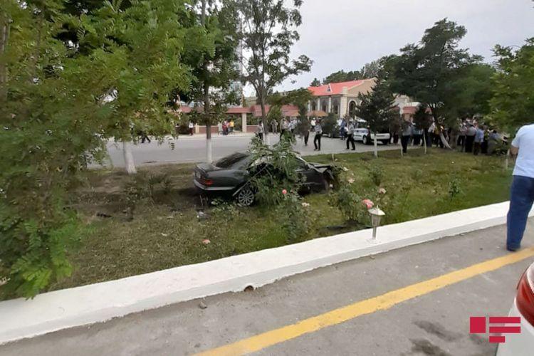 Collision of two cars in Azerbaijan