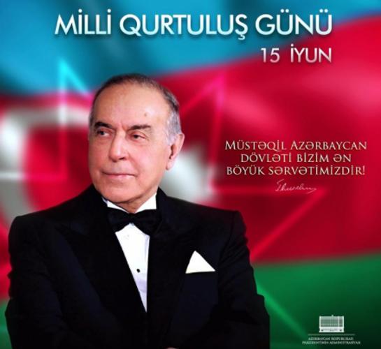 На официальной странице президента Ильхама Алиева в Facebook размещена публикация в связи с Днем национального спасения