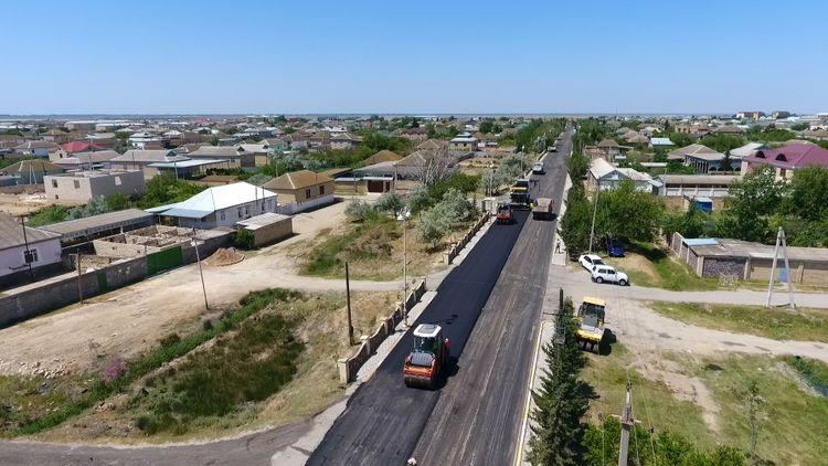 Hacıqabul-Muğan avtomobil yolu yenidən qurulur