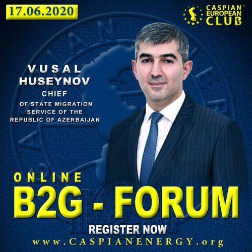 Caspian European Club holds online B2G forum with participation of Vusal Huseynov