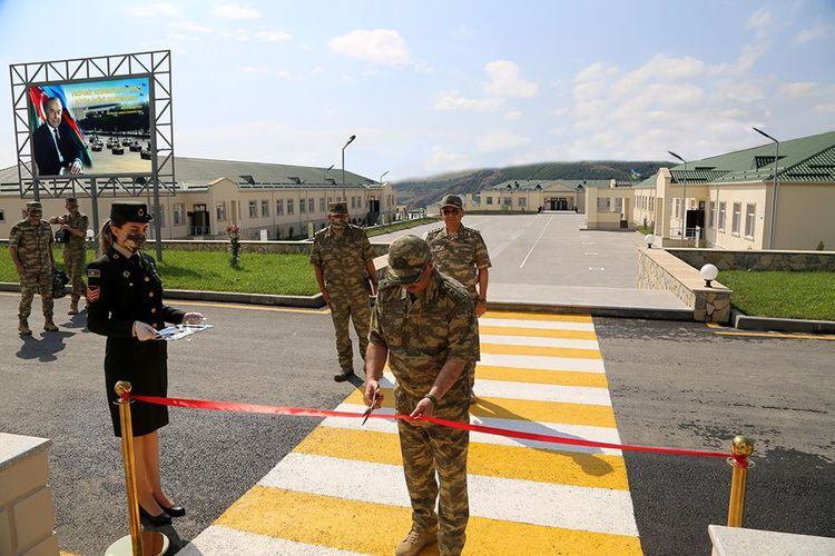 Azerbaijani Minister of Defense took part in the opening of another new military unit in the frontline zone  - <span class=