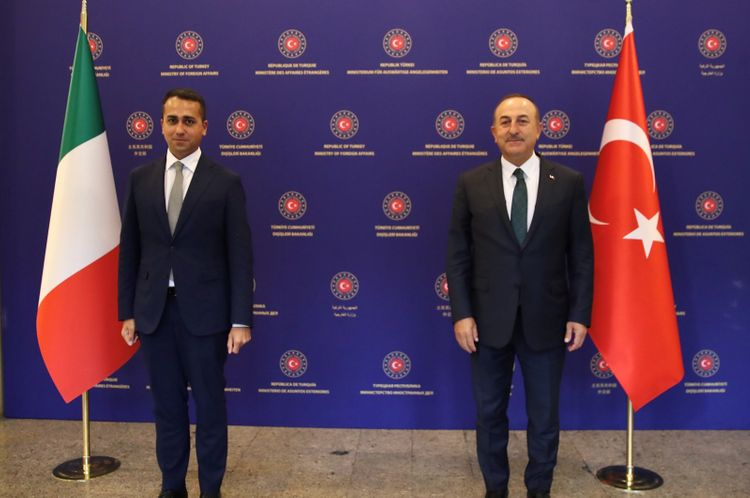 """Turkish FM: """"Turkey, Italy to cooperate in Libya for permanent peace"""""""