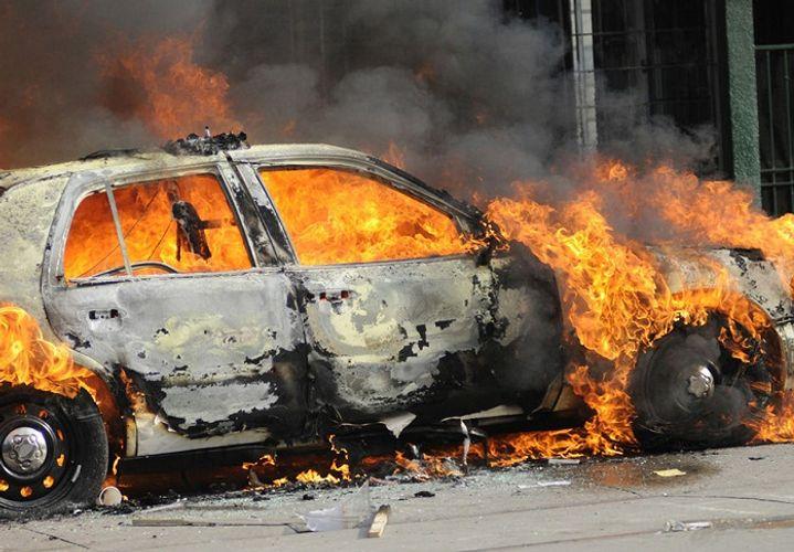 """Zaqatalada """"Opel"""" markalı avtomobil yanıb"""