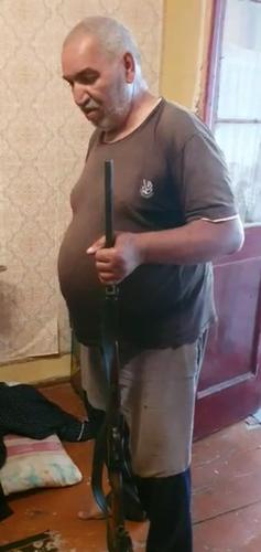 Şabran sakinindən odlu silah götürülüb
