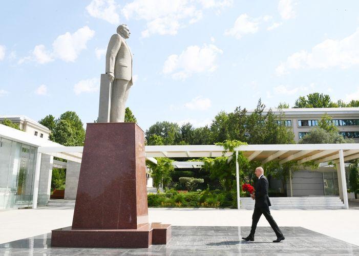 President of Azerbaijan Ilham Aliyev visited Mingachevir