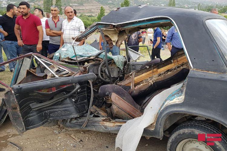 Tovuzda qəza olub, ata ölüb, 15 yaşlı oğlu xəsarət alıb - FOTO - YENİLƏNİB