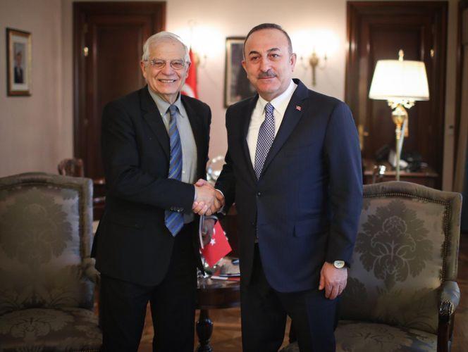 Turkish FM meets with Josep Borrell