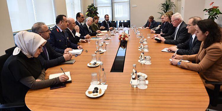 Press secretary of Turkish President meets with James Jeffrey and Kelly Kraft