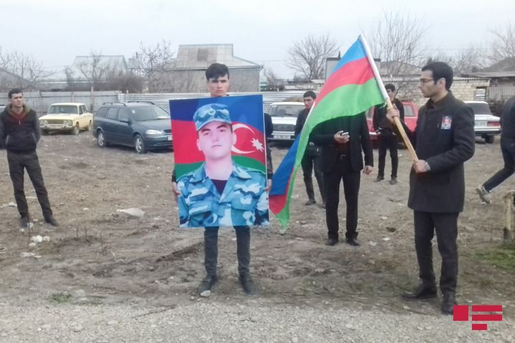 Azerbaijan's martyred military serviceman laid to rest in Barda region - PHOTO