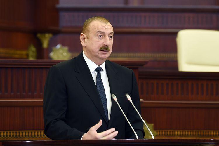 """Prezident: """"Bütün siyasi qüvvələrin iştirak etdiyi seçkilər nəticəsində çoxpartiyalı parlament formalaşıb"""""""