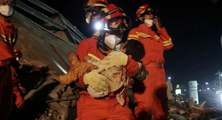 Death toll from hotel collapse in China rises to 26, 3 remain trapped