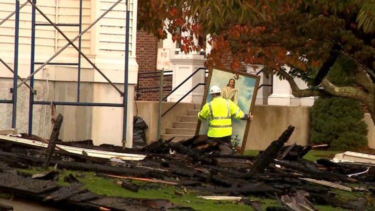 Fire destroys Christ Church home
