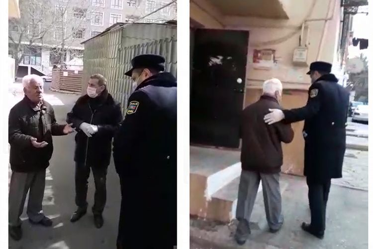 Xalq artisti Arif Quliyev 65 yaşla bağlı qadağanı pozub, polis onu evə göndərib - VİDEO