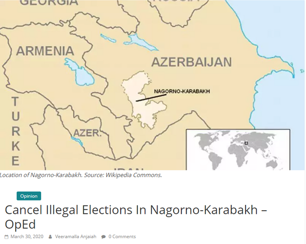 """Indonesian journalist writes article titled """"Cancel illegal elections in Nagorno-Karabakh"""""""