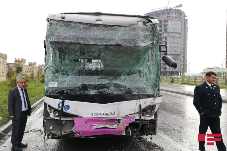 Collision of two buses in Azerbaijan