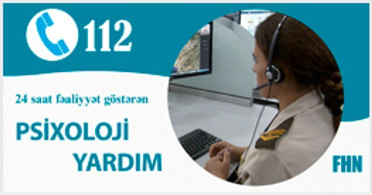 Up to 750 appeals received by Hot line service established by Azerbaijan's MES in order to provide psychological support to citizens