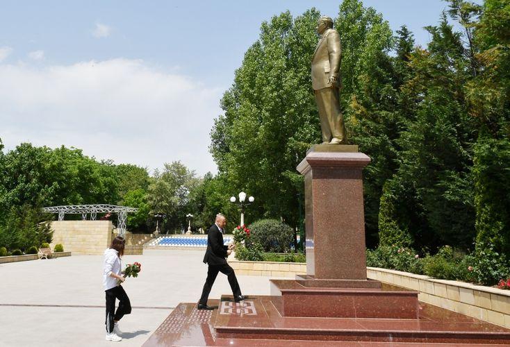 Президент Ильхам Алиев прибыл в Шамахинский район