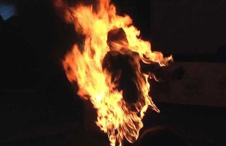 В Хачмазе облили бензином и подожгли 35-летнего мужчину