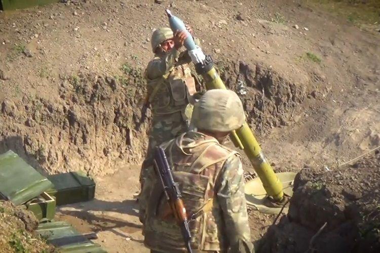 Азербайджанские минометчики наносят точные удары по противнику  - ВИДЕО