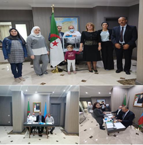 Algerian Embassy in Baku opens its polling station