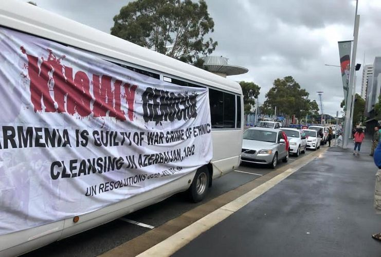 Armenians attempted to put obstacle to protest rally held by Azerbaijanis in Sydney - PHOTO