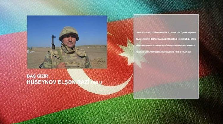 Şəhid dayısının qisasını almaq üçün orduya yazılan qəhrəmanımızı tanıyaq - VİDEO