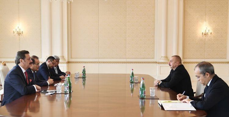 Президент Ильхам Алиев принял Багдада Амреева, Мустафу Рифата, Адхама Икрамова и Марата Шаршекеева - ОБНОВЛЕНО