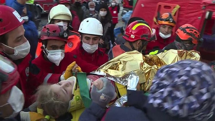 3-year-old girl rescued 65 hours after quake in Turkey