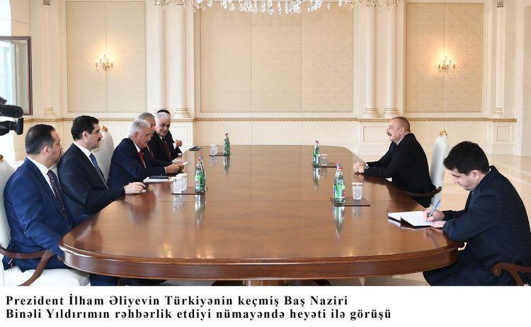 President Ilham Aliyev receives Binali Yildirim - UPDATED