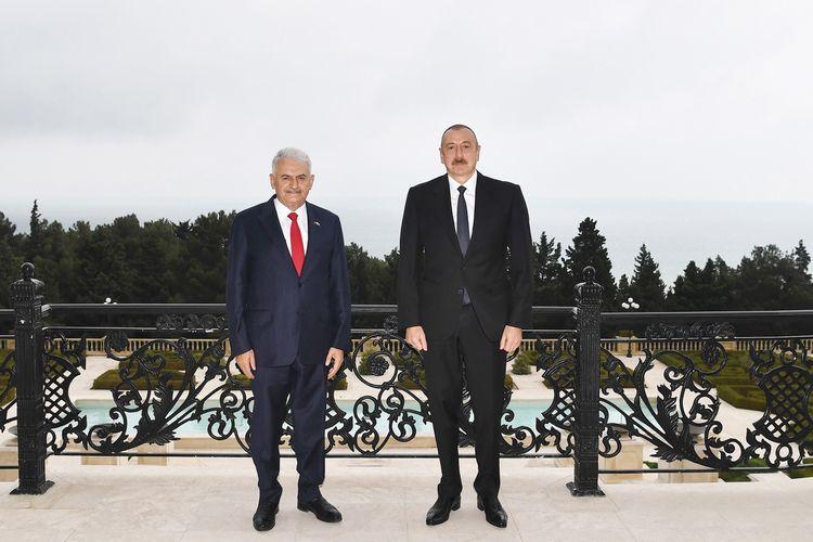 Prezident İlham Əliyev Türkiyənin keçmiş Baş Naziri Binəli Yıldırımı qəbul edib - YENİLƏNİB