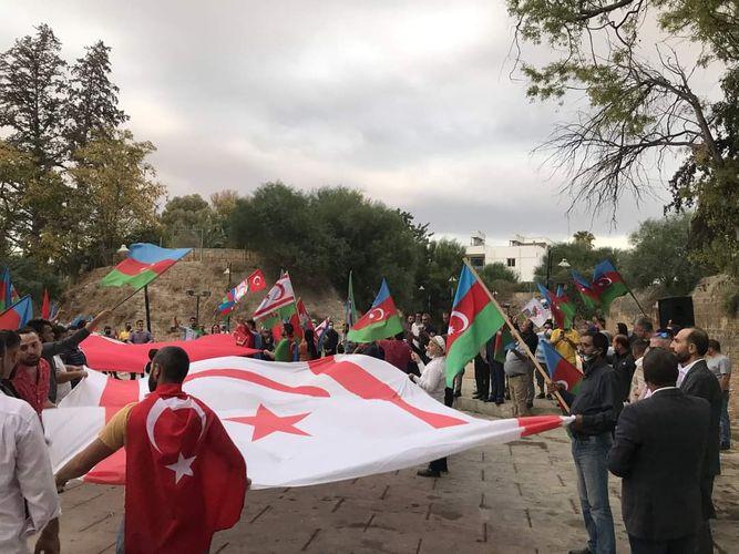 Şimali Kiprdə  Ermənistanın terroruna qarşı aksiya keçirilib