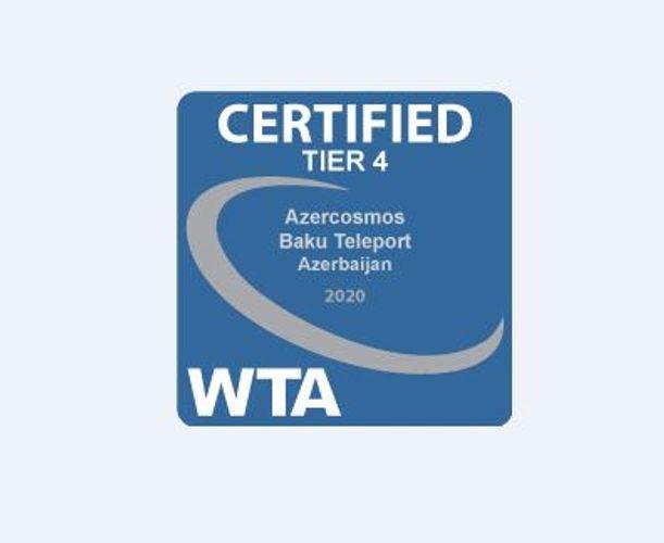 """""""Azərkosmos"""" Dünya Teleport Assosiasiyasının """"Tier4"""" sertifikatını əldə edib"""